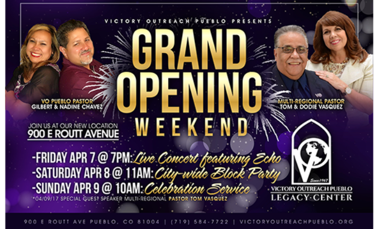 New Church Grand Opening Weekend