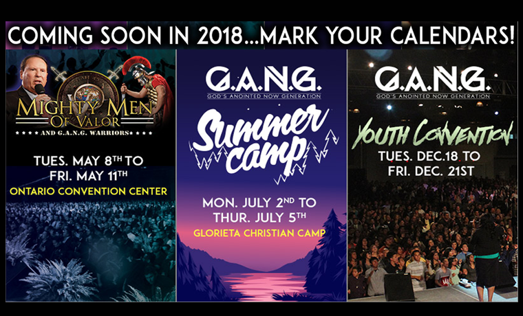 Upcoming Events 2018