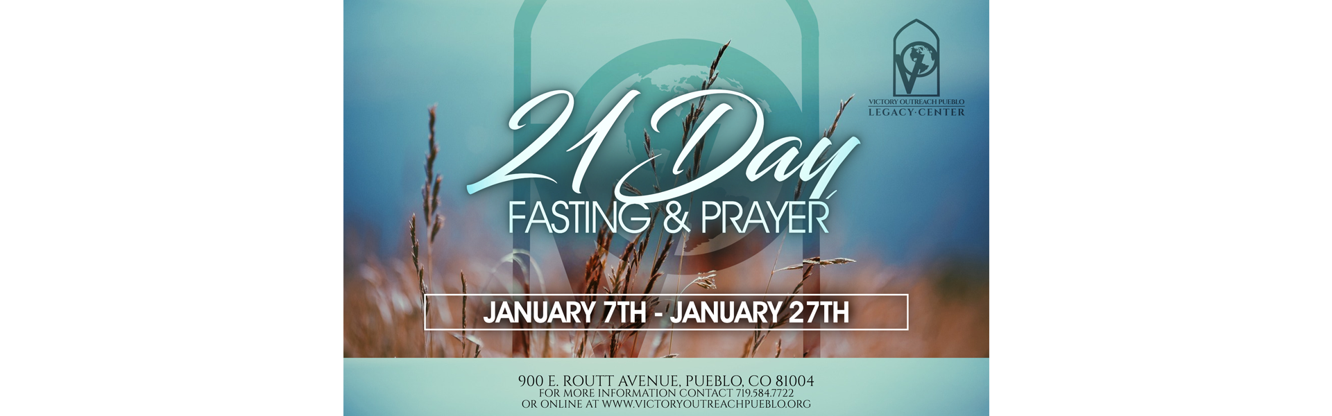 Fasting and Prayer 1/7 thru 1/27