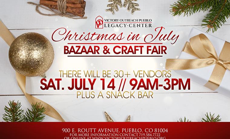 Christmas In July Bazaar & Craft Fair – July 14th