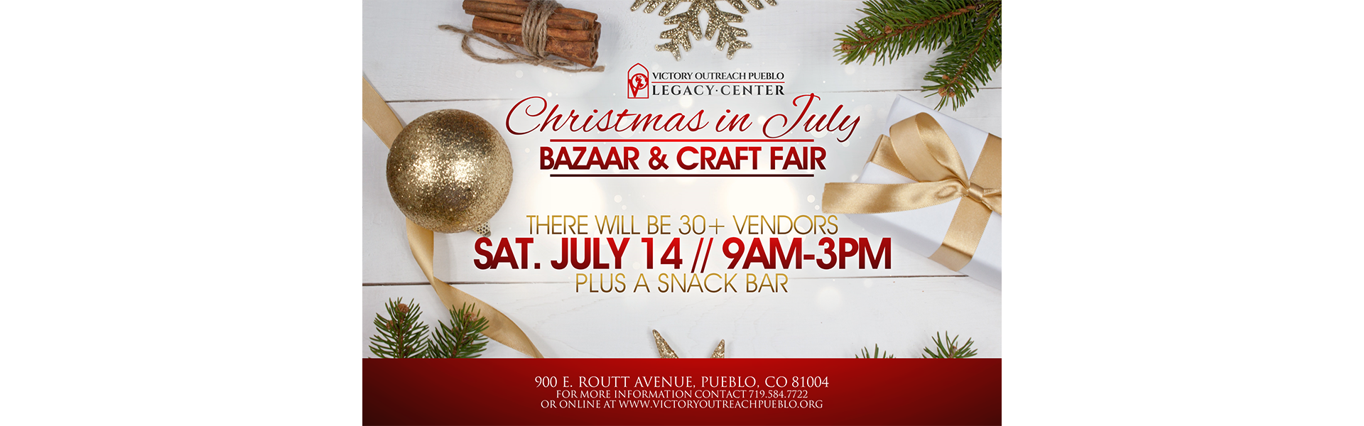 Christmas In July Bazaar and Craft Fair July 14th