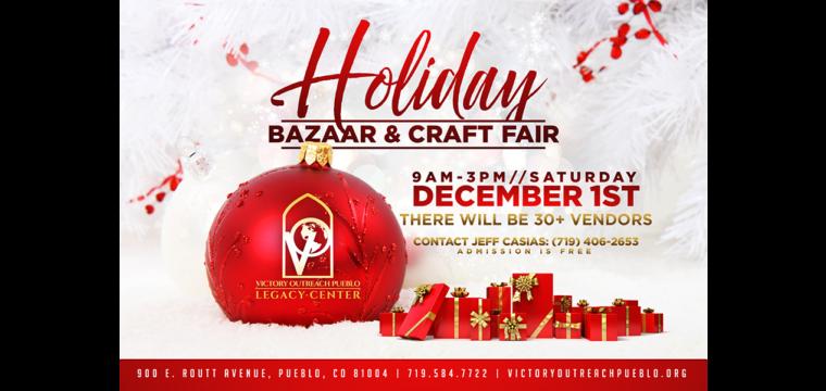 Holiday Bazaar & Craft Sale – Dec 1st