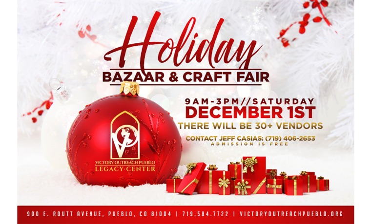 Holiday Bazaar & Craft Sale – Dec 1st