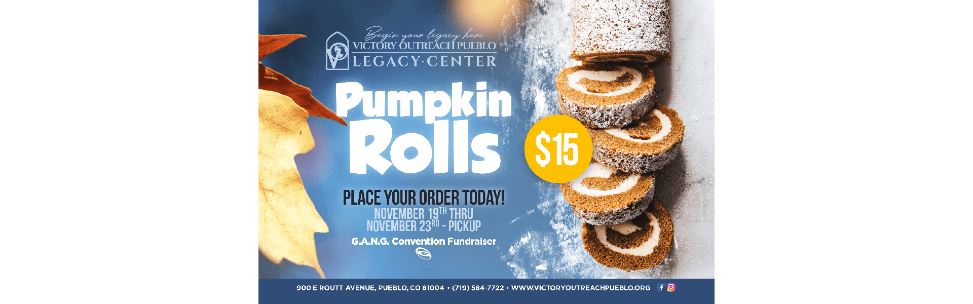 Pumpkin Rolls For Sale 11/19-23
