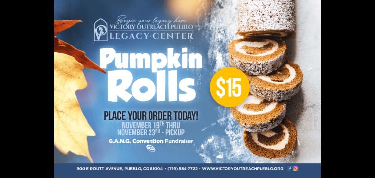 Pumpkin Rolls Fundraiser – Nov. 19th-23rd