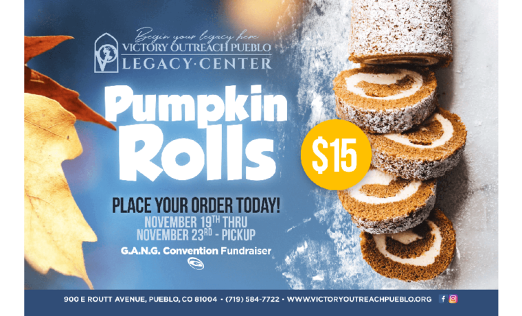 Pumpkin Rolls Fundraiser – Nov. 19th-23rd