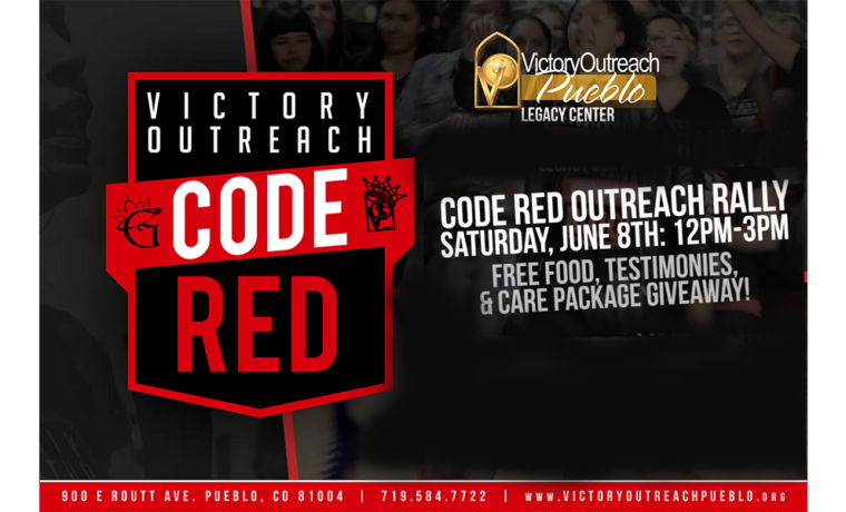 Code Red Outreach Rally – June 8