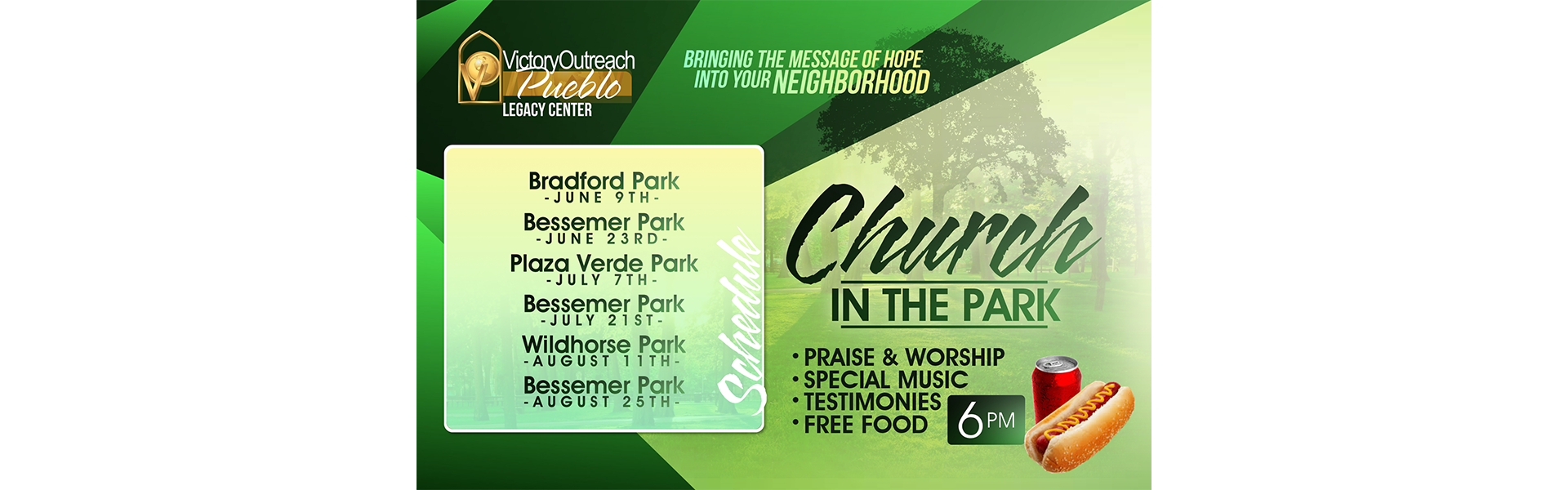 Church in the Park – June