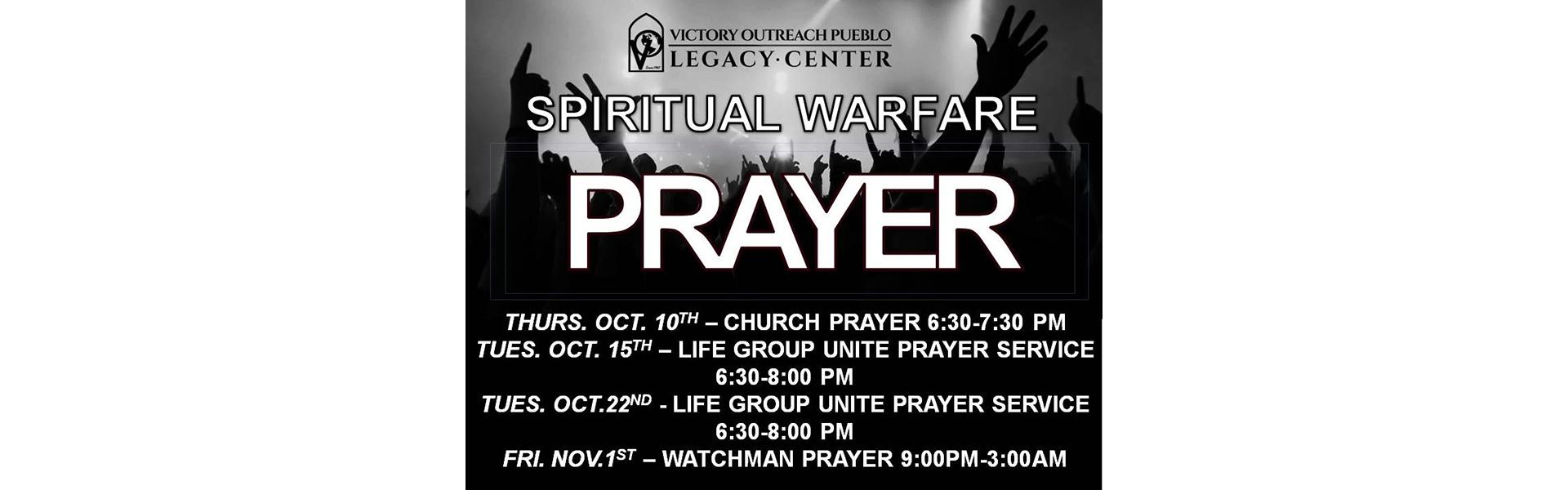 Spiritual Warfare Prayer October