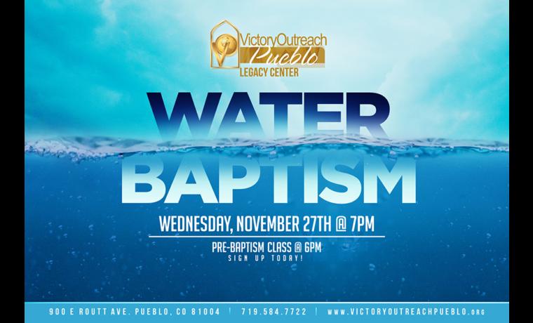 Water Baptism Class – Nov 27th