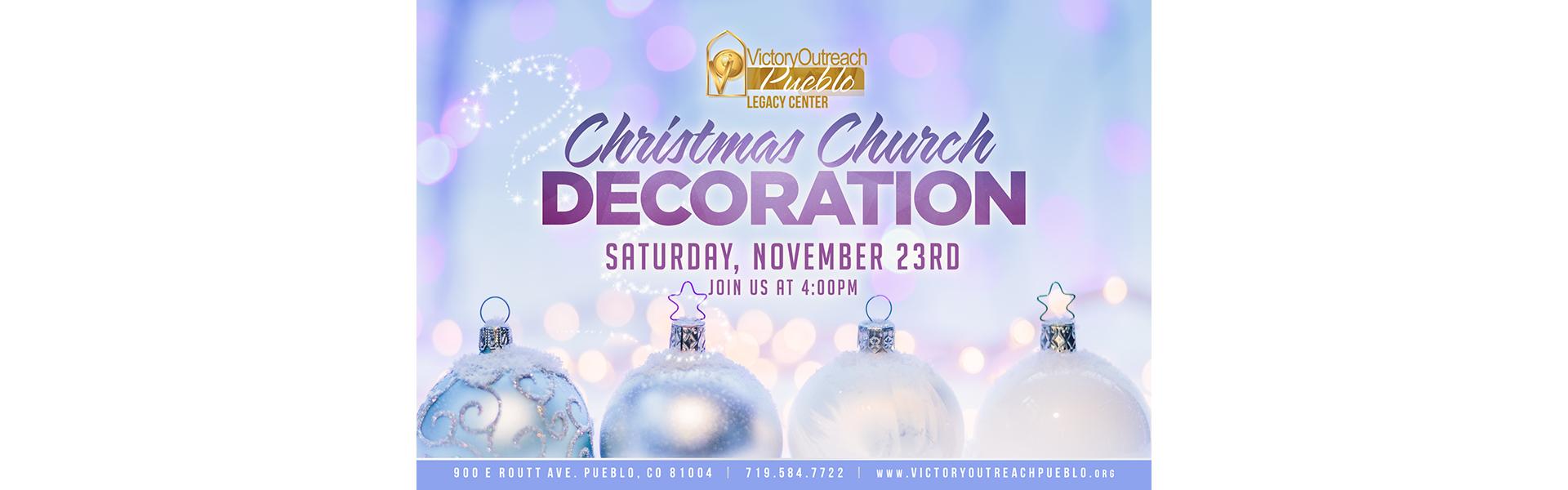 Christmas Church Decoration Nov 23