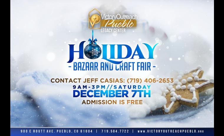 Holiday Bazaar and Craft Fair – Dec 7th