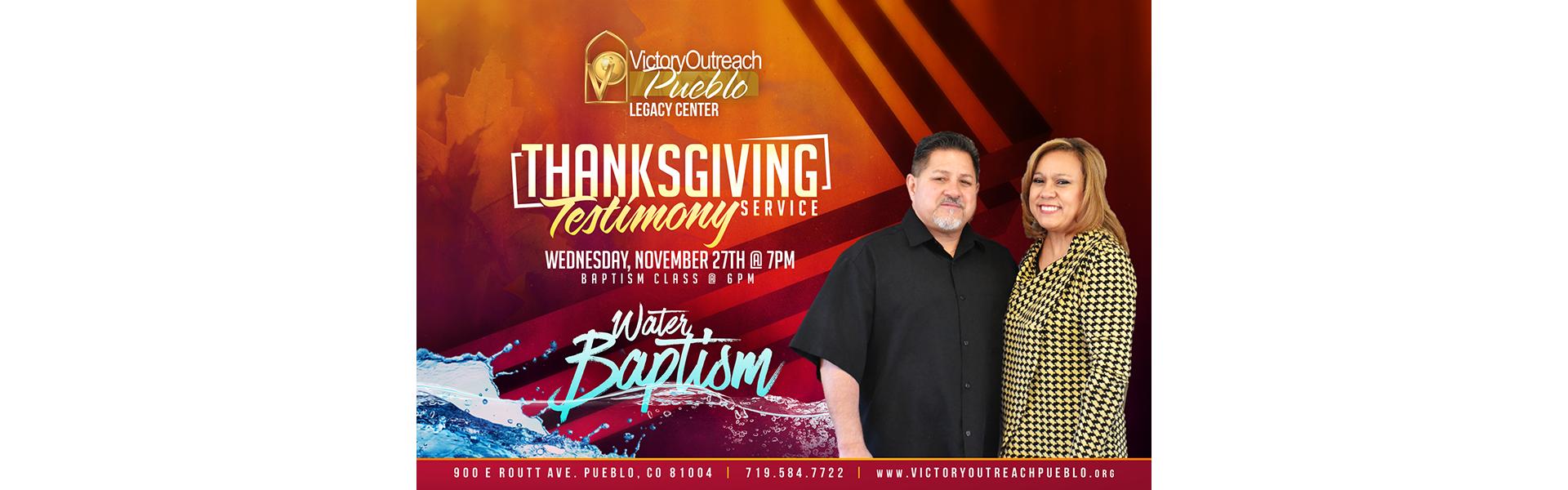 Thanksgiving Service Nov 27